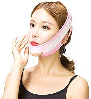 Afslankverband voor het gezicht, dun gezichtsverband Dunne dubbele kin Ademend Slaaphef Verstevigend V Gezichtsmasker Dubbele
