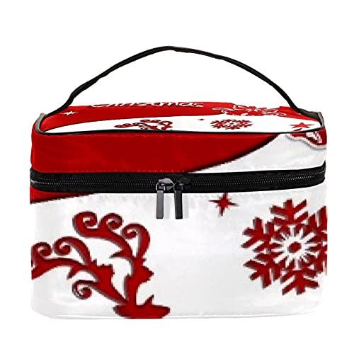 Bolsas de maquillaje para mujeres y nis Estuche organizador de cosmicos de mano bolsa portil de viaje neceser divertido regalo de Navidad copo de nieve, Multicolor 6 Neceser