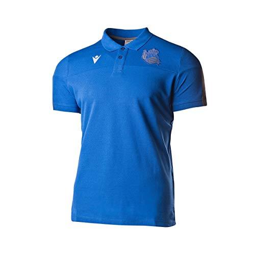 Macron Real Sociedad Paseo 2019-2020, Polo, Blue, Talla S