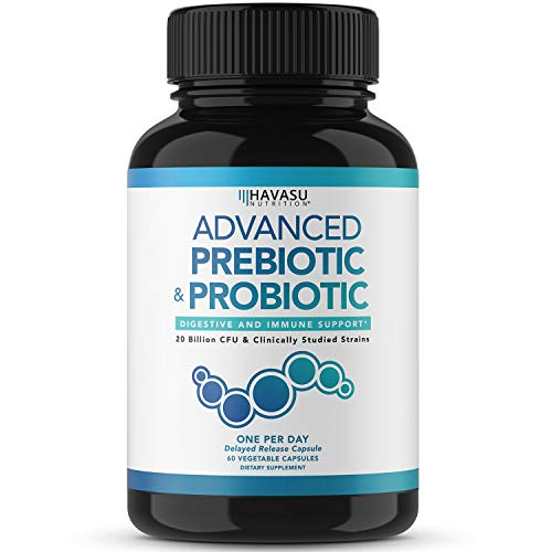 Havasu Nutrition Prebiotics and Probiotics for Women and Men as Digestive Enzyme Support; Non-GMO, 60 Vegetarian Capsules