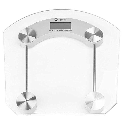 OcioDual Bascula de Baño 180Kg Digital Peso Cristal Transpa
