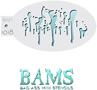 MyPartyShirt Drips Bad Ass Mini Stencil