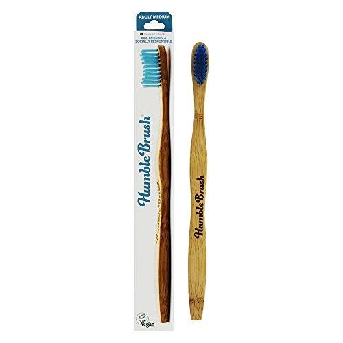 Humble Brush - Cepillo de dientes de bambú para adultos, color azul