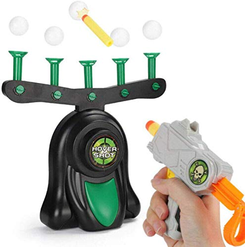 "SUITLIM Floating Ball Shooting Game Target Airshot Foam Dart Blaster Hover Shot Toy Gift for Kids 8 and up (As Shown, 12.99 x 12.99 2.95"")"