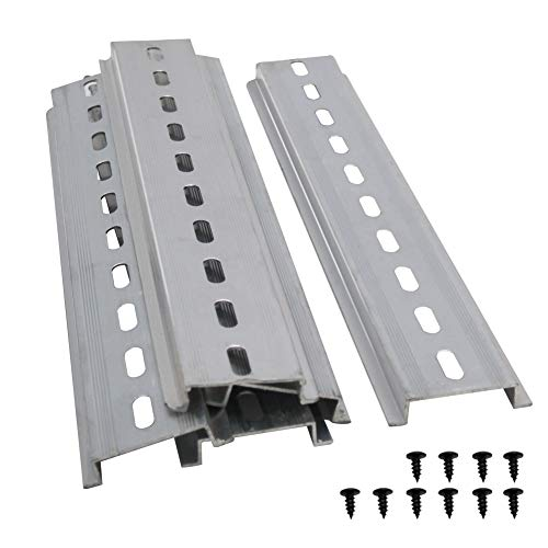 Taiss/5 Stücke DIN-Schiene Schlitz Aluminium RoHS Niemals rosten,für Verteilerschrank Schaltschrank einbau, 35mm breit, 7,5mm hoch, lang 200mm/8