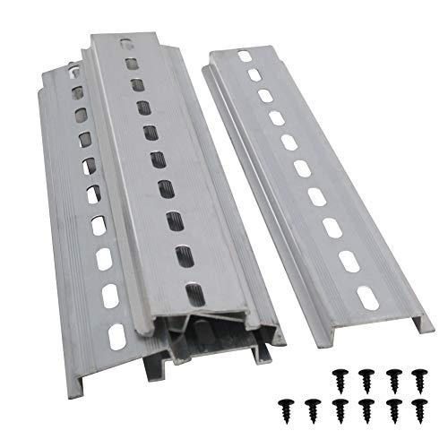 Taiss/5 Stücke DIN-Schiene Schlitz Aluminium RoHS,für Verteilerschrank Schaltschrank einbau, 35mm breit, 7,5mm hoch, lang 200mm/8