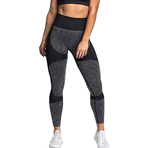 Leggings senza cuciture CNASA per pantaloni da yoga a vita alta da donna, allenamento per il...