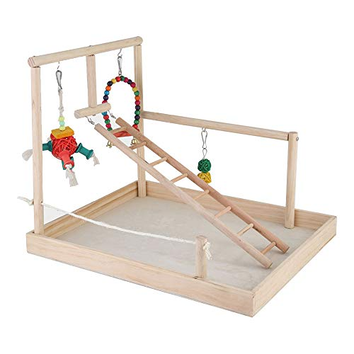 HXHON Vogelständer aus Holz, Sitzstange für Papageien, Spielplatz für Vögel, Fitnessstudio, Laufstall, Leiter, Käfigtraining, Übungsspielzeug