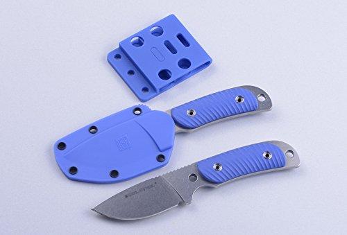 REAL Steel Hunter 165 Fahrtenmesser Sandvik 12C27 56-58HRC (Blue G10)