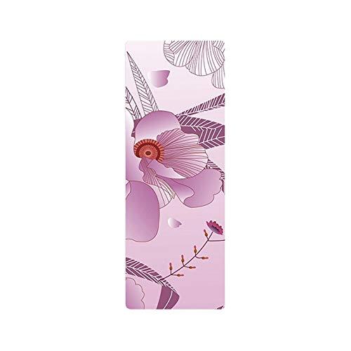 N / A 2019 Esteras de Yoga Plegables ultraligeras Mandala Impresa 1 mm Gamuza Caucho Natural Antideslizante Mantas de Pilates Múltiples usos 183x68x0.1 CM