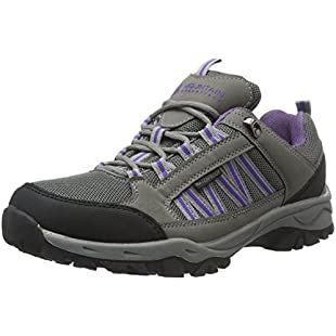 Mountain Warehouse Path Waterproof Womens Walking Shoes - Breathable Ladies Shoes, Mesh Lining All Season Shoes, High Traction Sole Hiking Shoes -For Everyday Use Dark Grey 7 UK:Eventmanager