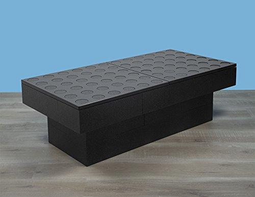 BAM - Table basse double noire modulable 114x57x36,5cm