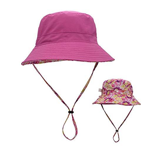 Ynnixa 1 stks dubbelzijdig dragen hoed Ouder-Kind Zonnehoed Zacht Katoen Zomer Hoed Plaid Basin Hoed Geschikt voor Strand Vissen Wandelen Camping Wandelen Rijden