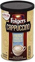 Folgers French Vanilla Flavored Cappuccino Mix, 16 oz, Packaging May Vary - 12 Pack