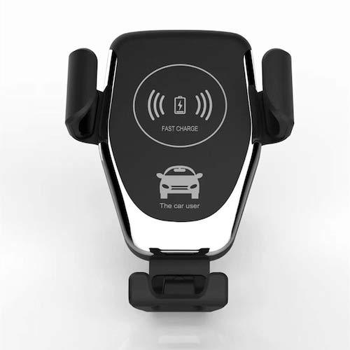 HaiMa Cargador De Coche Sensor Inalámbrico De Carga Rápida Automática Soporte Del Soporte Del Teléfono Móvil - Negro