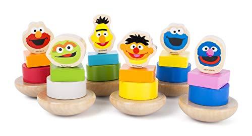 Small Foot- Sesame Street, présentoir de Figurines à Visser en Bois,certifié 100% FSC, pour Les Enfants de 12 Mois et Plus. Jouets, 10971, Multicolore