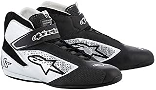 Alpinestars Tech 1-T Driving Shoes FIA - 2019 Model - Black/Silver - Size 9.5 (2710119-119-9.5)