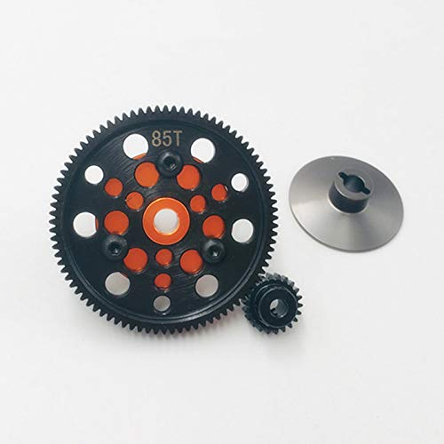 LCX Racing 1/10th RC Crawler Car Hardened Steel 48P 85T Spur Gear w/ 24T Pinion Gear for Axial SCX10 Wraith