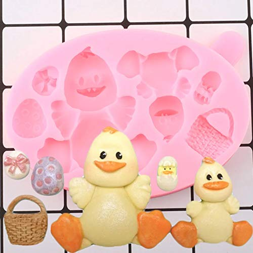 SUNSK 3D Duck Silicone Mold Egg Cake Topper Mold Diy Party Cake Decoration Tool Candy Chocolate Candy Mold