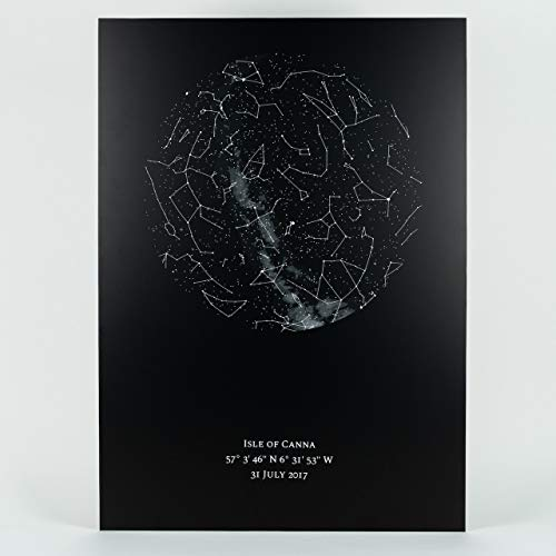 Nachthimmel.de I Personalisierte Sternenkarte als Poster I 50 x 70 cm