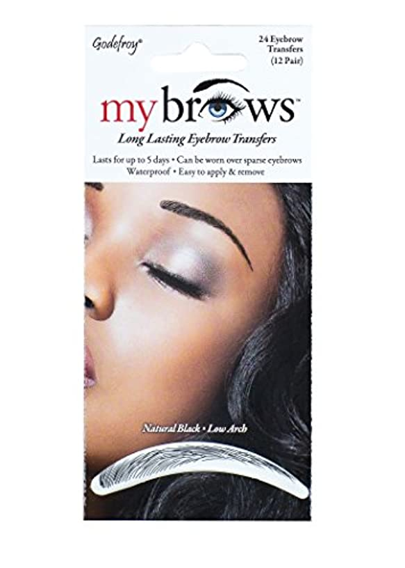 Godefroy My brows natural black low arch (12 pairs), 1.0 Count