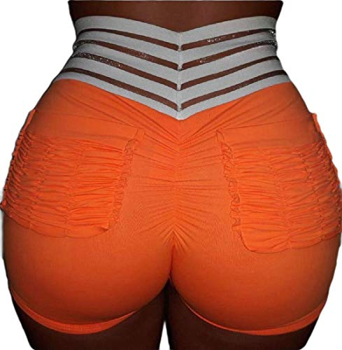 security-Shorts für Damen, für Workout, Laufen, Tanz, Yoga, Stretch, solide Gr. Medium, 2