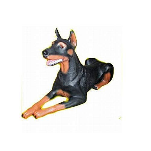 XXL Premium Dobermann in lebensgross 90cm Hund Garten Deko Figur inkl. Spedition