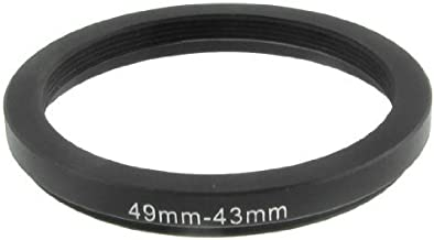 SODIAL R  49mm-43mm 49mm 43mm Black Step Down Ring Adapter for Camera