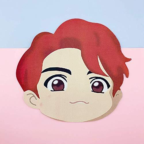 dfhdrtj Unieke Kpop BTS Mousepad Bangtan Jongens POP-UP Winkel [ Huis van BTS : Karakter ] Hoge Precisie Stof Rubber Basis JUNGKOOK/