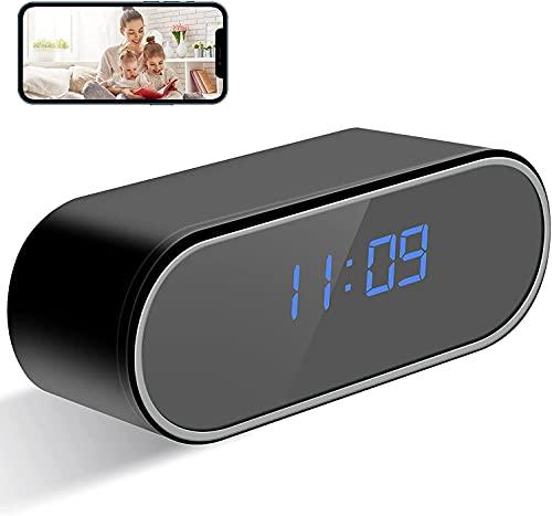 Spy Hidden Alarm Clock Camera, HD 1080P Wireless Spy Camera Clock Mini...