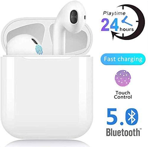 Auriculares Bluetooth,Auriculares inalámbricos Bluetooth5.0 In-Ear Mini Auriculares Auriculares,emparejamiento automático emergente,Deportivos para,Funciona con todos los dispositivos Bluetooth
