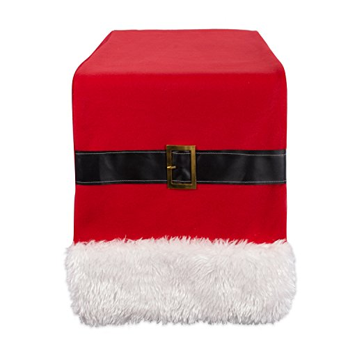 DII Holiday Decorative Table Runner Santa Belt