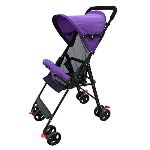 LYzpf Leichter Baby Kinderwagen Klein Stilvolle Babyartikel Kombikinderwagen Babyausstattung Buggy Faltbar Babyzubehör Babyprodukte Kompakt Zubehör für 0-36 Monate,Purple