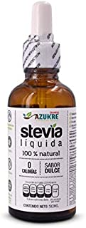 Azukre® Stevia Líquida. Ingrediente Non-GMO. 50ml.