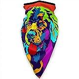 Cara Bufanda Protección solar Bandana Cuello Polainas Máscara transpirable a prueba de viento, Pasamontañas colorido para perros de Terranova para exteriores Hola