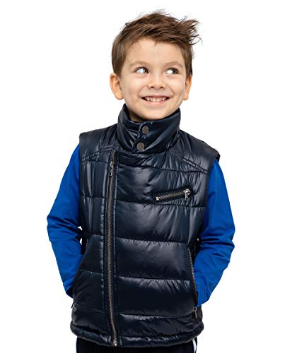 GULLIVER Kinder Weste Outdoor Steppweste Jungen Kinder Blau mit Reißverschluß Warm mit Futter 3-8 Jahre