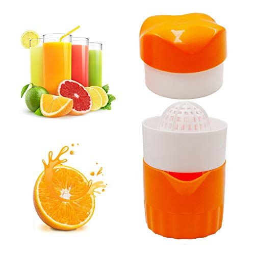 Hyshina Hand Juicer Citrus Orange Squeezer Manual Lid Rotation Press Reamer for...