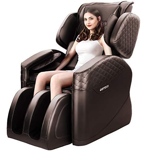 KASPURO Massage Chair, Zero Gravity Full Body Airbags Shiatsu Massage Recliner with Waist Heating,...