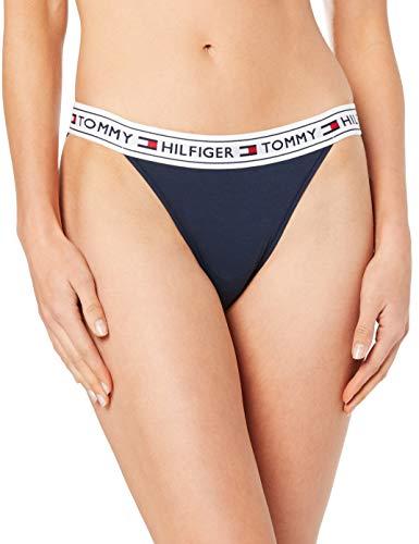 Tommy Hilfiger Damen Panties BIKINI, Blau (Navy Blazer 416), Medium (Herstellergröße: Medium)