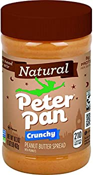 12-Pack Peter Pan Natural Crunchy 16.3 oz Peanut Butter Spread