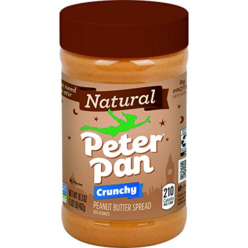 Peter Pan Natural Crunchy Peanut Butter Spread, 16.3 oz, 12-Count