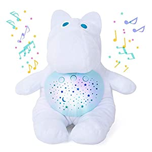 crib bedding and baby bedding bebamour baby sleep soother with night light star projector and music, white noise & lullaby sound machine, travel pack and plush toys for boys girls infant shower gift (new white)