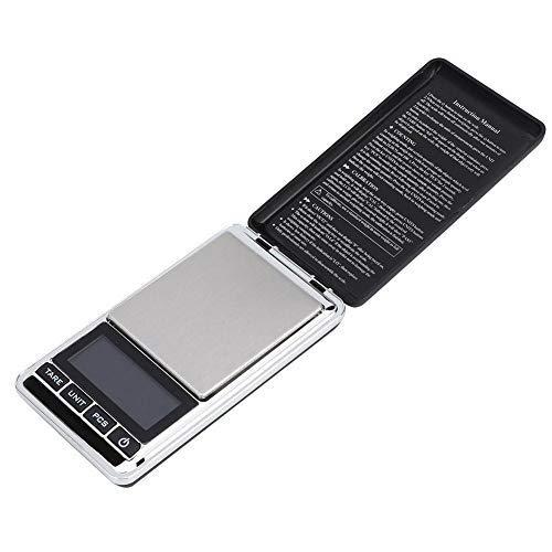 Balanzas de cocina digitales, Balanzas de cocina de alta precisión con pantalla LCD, Mini balanzas electrónicas para, Ingredientes, Joyería, Café Té(500 g / 0,1 g)