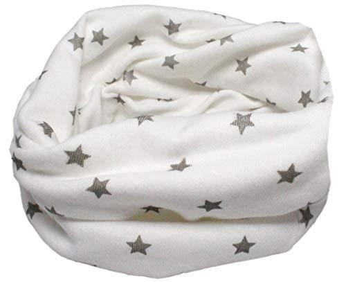 Colourful Baby World Enfant en coton multiusage Bandana Bonnet Tour de cou (Étincelles blanc)