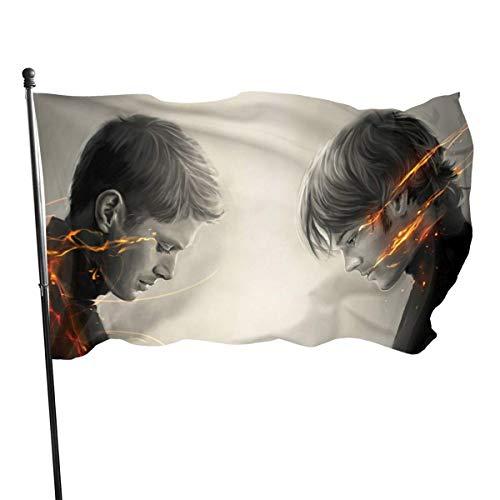 BHGYT Supernatural Flag 3x5 FtDecorative Esterni Anti UV Sbiadimento all'Interno Bandiere Stagionale e Festivo Bandiera Banner Banner Poliestere 3x5 Piede
