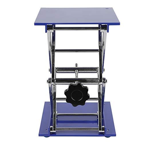 Plataforma elevadora de laboratorio Soporte de mesa elevadora Bastidor de tijera de laboratorio Óxido de aluminio Altura ajustable, 200 * 200 * 280 mm/7.9 * 7.9 * 11in