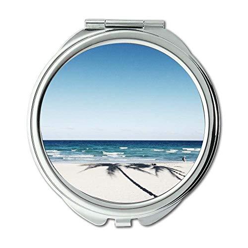 Yanteng Spiegel, kompakter Spiegel, Strandhorizontozean, Taschenspiegel, beweglicher Spiegel
