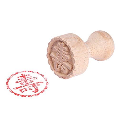 1 pieza de moldes de sello de pastel de luna de caracteres chinos tradicionales, galletas de postre de madera DIY, sello redondo, utensilios para hornear, herramientas de decoración, suministros