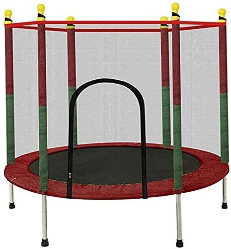 Cebolla plegable Trampoline Kids Trampoline Mat y cubierta de primavera Padding Al aire libre Patio interior Trampolines para niños al aire libre Interior Trampolín con caja de seguridad Red Pad Max C