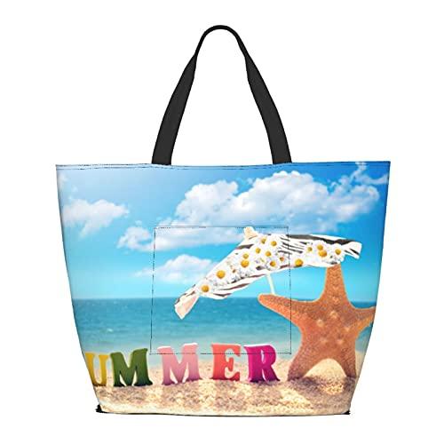 Premium Women Ladies Canvas Travel Weekender Luggage Bag Overnight Carry-On Shoulder Tote Duffel Large Handbag in Trolley Handle (Ocean)